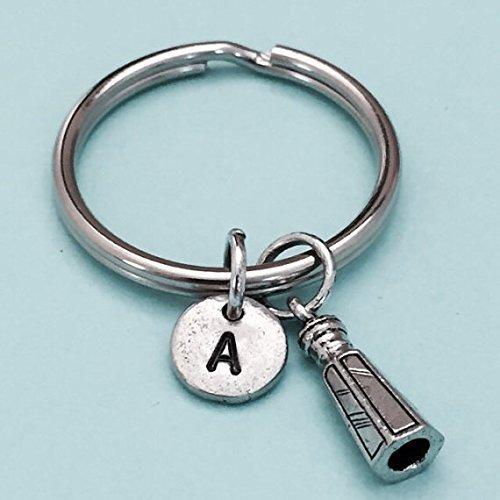 initial keychain personalized keychain initial charm monogram Salt shaker keychain condiment keychain salt shaker charm customized