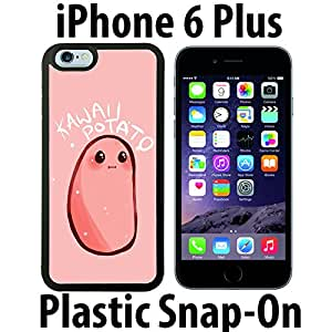 Kawaii Potato Custom made Case/Cover/skin FOR iPhone 6 PLUS -Black- Plastic Snap On Case ( Ship From CA)