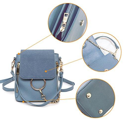(JVP 1020-C) estilo japonés mochila de las señoras de cuero de LA PU de color azul marino 3way mochila bandolera popular ligero viajero de la escuela bolso de recuperación informal Vino Tinto