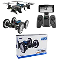 Flying Quadcopter Car with 0.3MP WiFi FPV Camera 4 Channel 2.4Ghz RC Quadcopter Remote Control Car