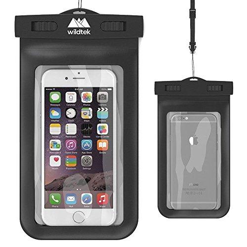- Wildtek Premium Universal Waterproof Cell Phone Case - Black