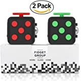 Fidget Cube Prime - Fun & Focus Toy for Children And Adults - Anxiety Attention Spinner Cubes, Perfect Gift For Autism, Anger, ADD, ADHD & PTSD - Red & Green