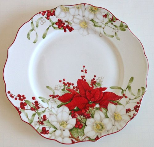 222 Fifth Holiday Dinner Plates,
