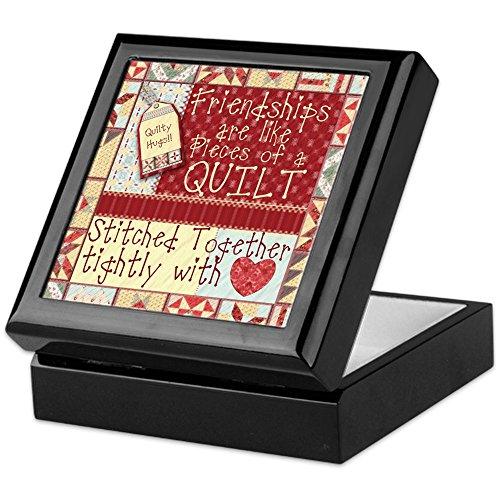 CafePress - Friendships Are Like Quilts - Keepsake Box, Finished Hardwood Jewelry Box, Velvet Lined Memento Box