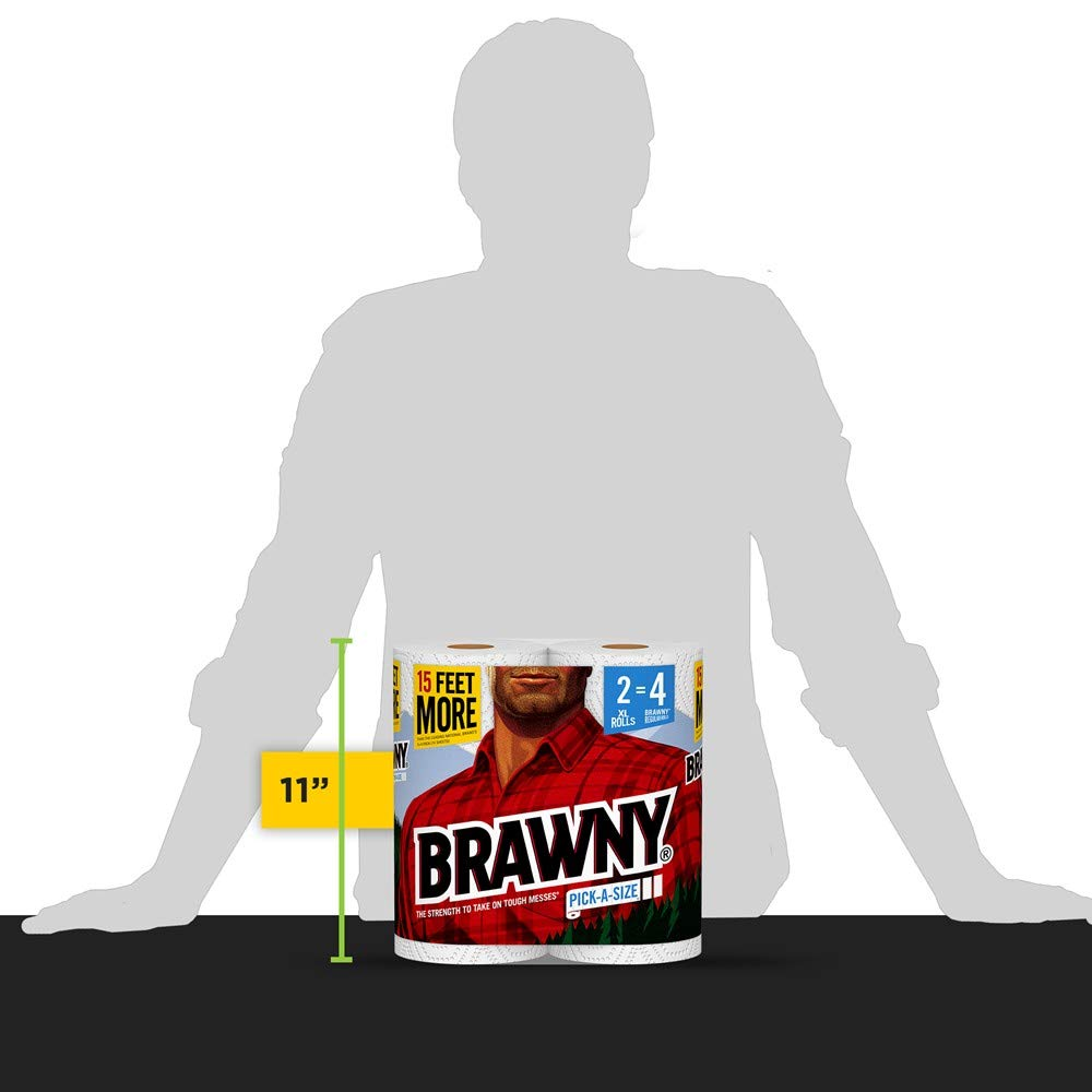 Brawny Paper Towels, 16 XL Rolls, Pick-A-Size, White, 16 = 32 Regular Rolls by Brawny (Image #12)