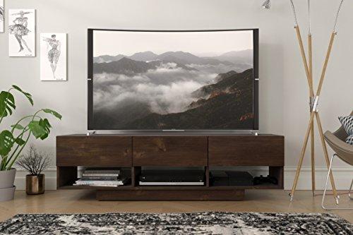 Nexera 105161 Stereo, Truffle 60-inch TV Stand,
