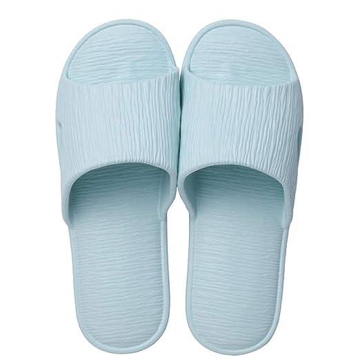 Pareja de Modelos de Dos Colores Simples Zapatillas de Moda Antideslizante Suave para el ba/ño y en Interiores y Exteriores