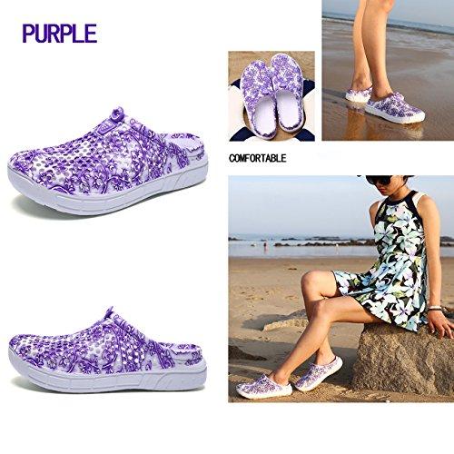 Margay Lilac YY Femme Flowers Mules 161 rTI0qw4r