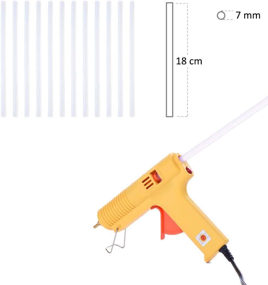 pegamento termofusible para pistola de pegamento caliente casera adorno hecho a mano Barras de pegamento caliente 30 unidades de 7 mm x 180 mm