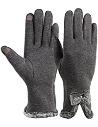 Womens Touch Screen Gloves Winter Thick Warm Lined Texting Gloves