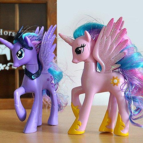 2pcs My Little Pony Pink Princess Celestia & Princess Luna Moon Figure Toy