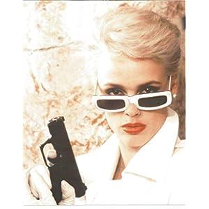Brigitte Nielsen in white suit Gun & Sunglasses- 8 x 10 Photo 004