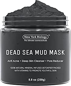 Dead Sea Mud Mask for Face & Body - 100% Natural Spa Quality - Best Pore Reducer & Minimizer to Help Treat Acne , Blackheads & Oily Skin - Tightens Skin for a Visibly Healthier Complexion - 8.8 OZ