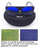 E1 A99 Golf Ball Finder Located Glasses Black Frame with Case