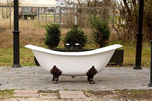 White Slipper Tub - White Antique Inspired 72