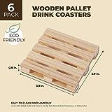 Juvale 6-Pack Mini Wooden Pallet Beverage Coasters