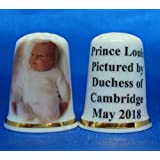 Birchcroft Porcelain China Collectable Thimble - Prince Louis Picture by Duchess of Cambridge Box