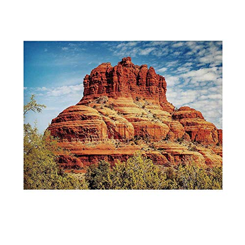 Western Photography Background,Famous Bell Rock and Courthouse Butte in Sedona Arizona USA Nature Desert Decorative Backdrop for Studio,7x5ft