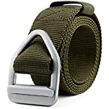 JASGOOD Men's Nylon Military Style Casual Army Outdoor Tactical Webbing Buckle Belt