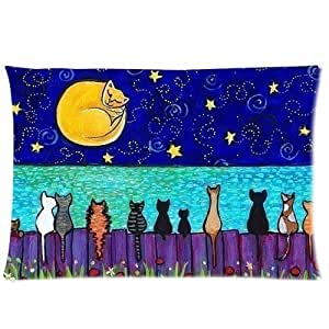Cat Pillowcase Standard Pillow Cover 20x30 (one side)