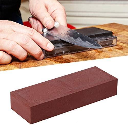 ナイフ研ぎ石、ナイフ研ぎ石400粒家庭用レッドナイフグラインダー砥石砥石ナイフ石キッチンツール