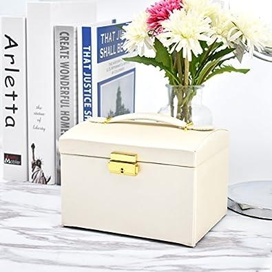 Schmuckbox mit Vielen F/ächern Schmuckschrank BalladHome Schmucklade Schmuckkoffer Schmuckkiste f/ür Uhren Schmuckk/ästchen Schmuckkasten Schmuckschatulle Ringe und Ketten