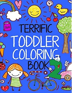 terrific toddler coloring book 2 coloring book for toddlers easy educational coloring book for - Toddler Coloring Book