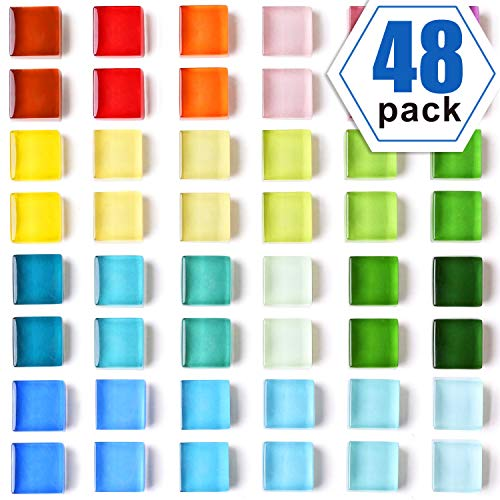Colorful Cute Refrigerator Magnets, Convenient and Practical Fridge Magnets,Perfect for Whiteboard Magnets, Office Magnets, Map Magnets(24 Colors / 48 Pack) ()