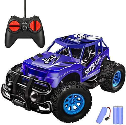 Remote Control Car for Kids – Durable Non-Slip Off-Road Shockproof High Speed RC Racing Car – All Terrain Eletronic RC Car Toy Gifts for 3 4 5 6 7 8 Year Old Boys Girls Teens (Dark Blue)