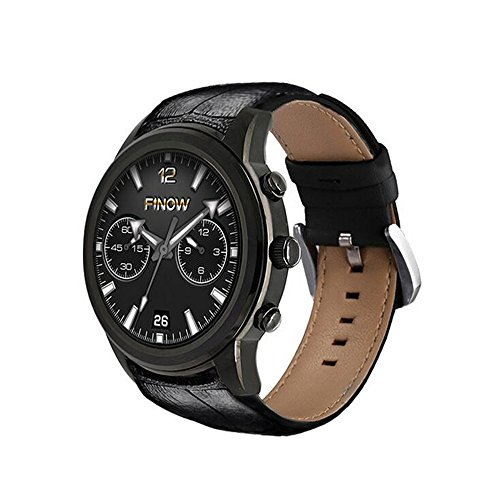 X5 Air Smart Watch Android 5.1 Ram 2GB Rom 16GB MTK6580 Watchphone 3G Bluetooth for Andorid/IOS PK Ii/I4 pro Smartwatches (black)
