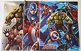 Marvel Avengers Poly Plastic Portfolio Folders -Set of 3