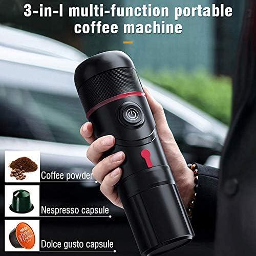JIN GUI Machine à Expresso électrique Portable, Machine à café Manuelle de Voiture à Pression de 15 Bars