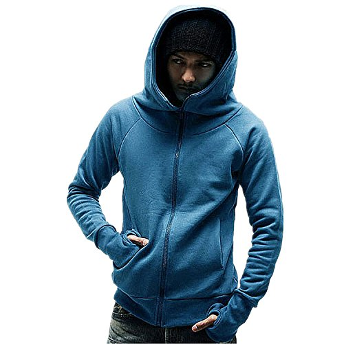 MOVING NOW Men Thumb Hole Hooded Jacket Hot Running And Sports Sweatshirt New Outdoor Fitness Hoodie Light (Morph Suit Sizing)