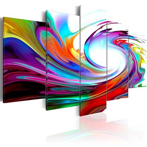 murando - Cuadro en Lienzo 200x100 cm Abstracto Impresion de 5 Piezas Material Tejido no Tejido Impresion Artistica Imagen Grafica Decoracion de Pared Arte 020101-234