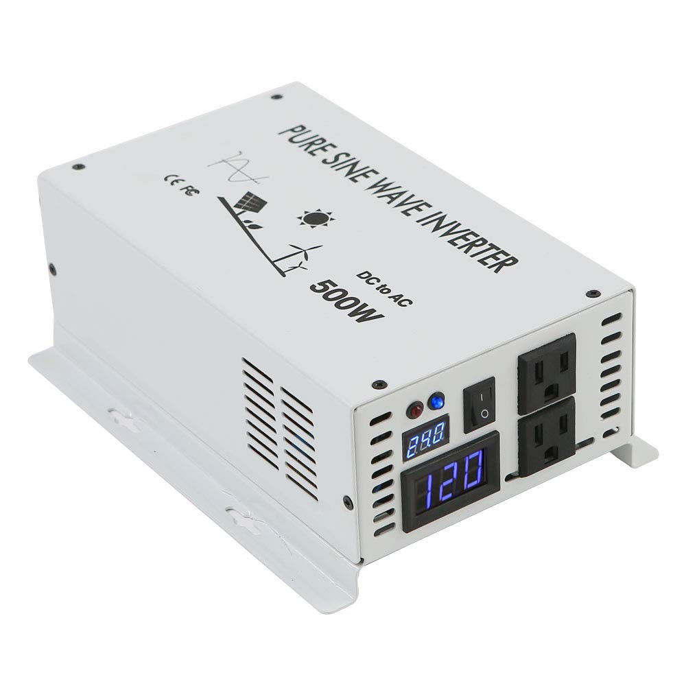WZRELB 500w Pure Sine Wave Solar Power Inverter 24v DC to 120v AC 60hz by WZRELB