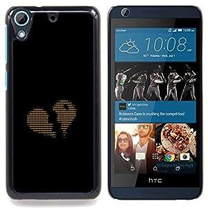 - Ascii Code Heart Love Binary - - Cubierta del caso de impacto con el patr??n Art Designs FOR HTC Desire 626 & 626s Queen Pattern
