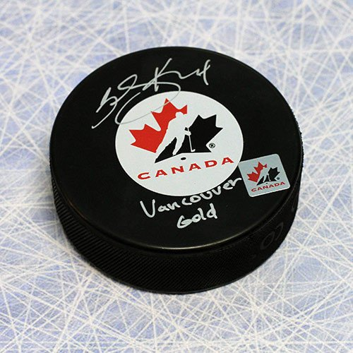 Becky Kellar Team Canada Autographed 'Vancouver Gold' Puck - Signed Hockey - Merchandise Vancouver Olympic