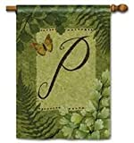 Nature's Script Monogram P House Flag by BreezeArt