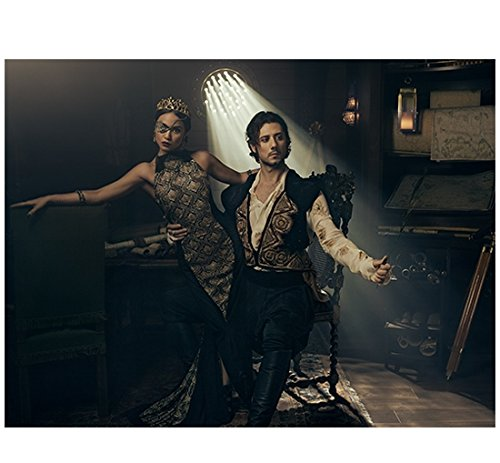 The Magicians Summer Bishil as Margo in eyepatch and crown with Hale Appleman as Eliot 8 x 10 Inch Photo