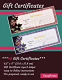 Gift Certificate Book (45 Pre-prepared Certificates, ready-made): Ready-to-use Gift Certificate Book, Great for small Business, Spas, Salons, Retailers and others (Business Gifts/Customer Service)