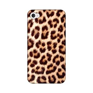 Leopard Close-Up Print Animal Series GDL Ultra Slim Hard Case for Apple iPhone 4/4S Geeks Designer Line