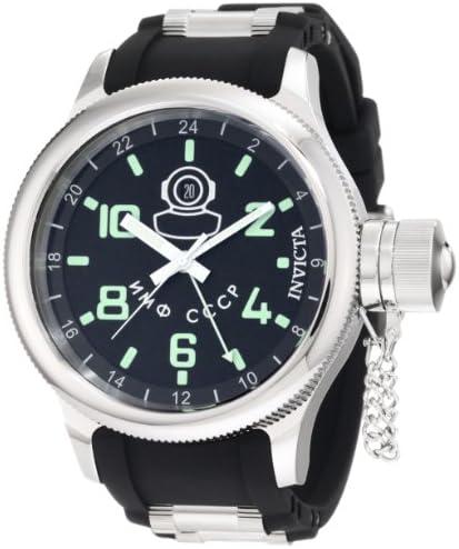 Invicta Men s 7238 Signature GMT Black Dial Black Polyurethane Watch