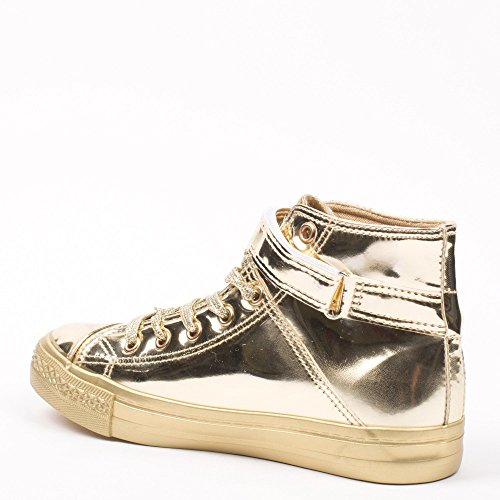 Ideal Shoes, Damen Sneaker Doree