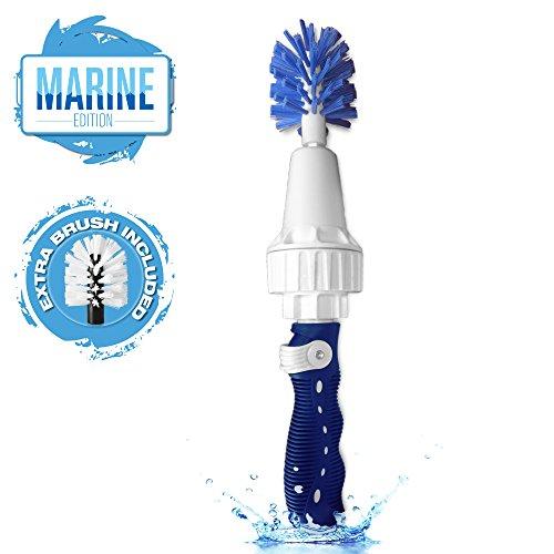 Brush Hero Marine – Water-Powered Boat Cleaning Tool, Boat Brush, Hull Brush, Boat Polisher, Fiberglass Cleaner (Ideas Patio Siding)