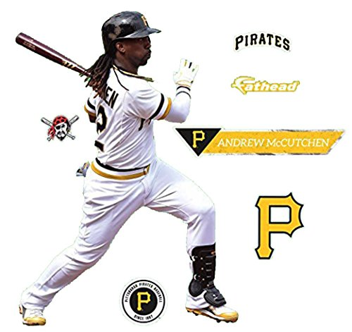 Pirate Graphic (Andrew McCutchen FATHEAD Pittsburgh Pirates Logo Official MLB Vinyl Wall Graphics 17