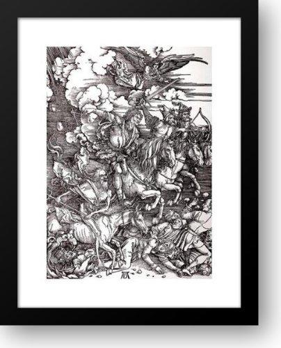 Four Horsemen Of The Apocalypse 20x24 Framed Art Print by Durer, Albrecht