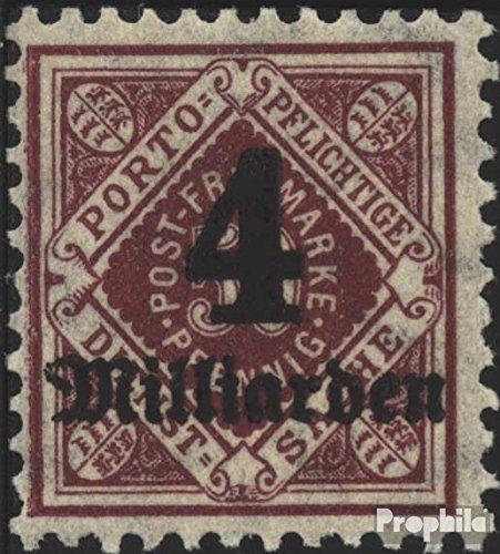 Prophila Collection Württemberg D182 geprüft 1923 Ziffern in Raute (Briefmarken für Sammler)