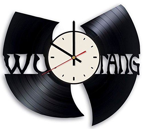 Wu-Tang Clan Vinyl Wall Clock Hip Hop Group Unique Gifts Living Room Home -