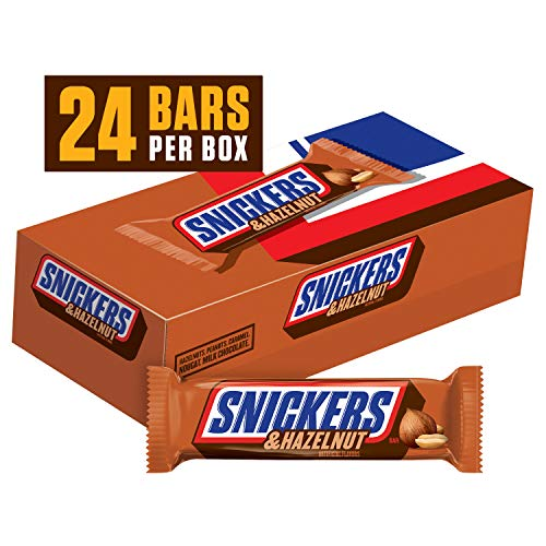 SNICKERS Hazelnut Singles Size Chocolate Candy Bars 1.76-Ounce Bar 24-Count Box
