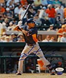 Signed Carlos Correa Picture - 8X10 At Bat Witnessed Auth - JSA Certified - Autographed MLB Photos